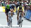 Alejandro Valverde just beats Simon Gerrans to win stage five on Old Willunga Hill...