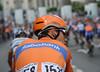 Maarten Tjallingii is sporting a new-look Giro helmet today...