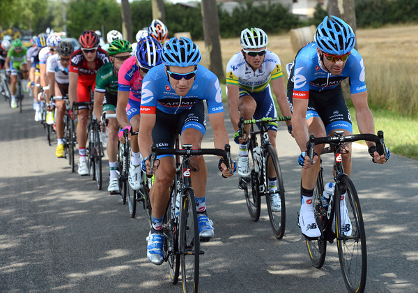 David Millar and David Zabriskie lead an escape that's gone clear after 45-kilometres...