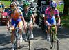 Four men lead with 25-kilomerres to go - Scarponi, Sanchez, Devenyns and Voeckler..