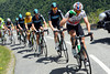 Edvald Boasson Hagen leads Team Sky near to the summit of the Madeleine - the gap is still about two minutes...
