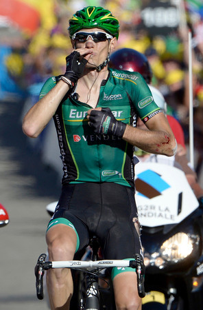 Pierre Rolland wins stage eleven, despite crashing on the Mollard descent...