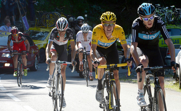 Chris Froome has attacked, forcing Evans and Van Garderen out of the group - and they'll soon catch Nibali now..!