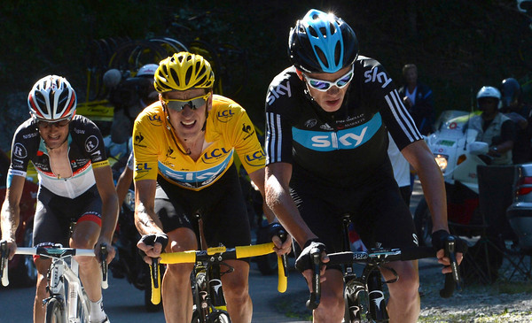 Take a closer look - Froome is making Wiggins hurt right now..!
