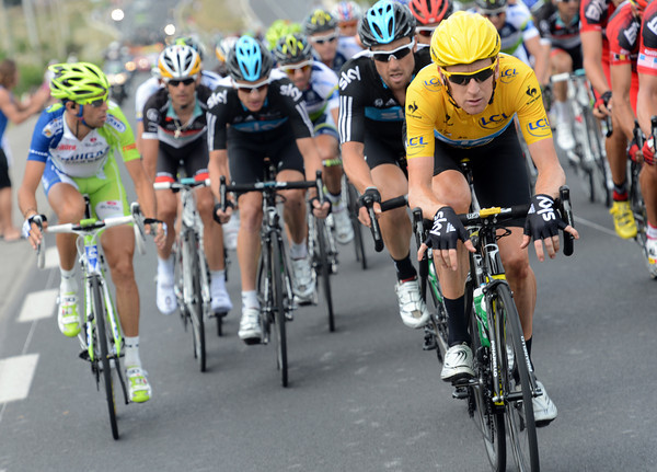Bradley Wiggins cruises to the front of the BMC attack to quieten them down - and it works..!