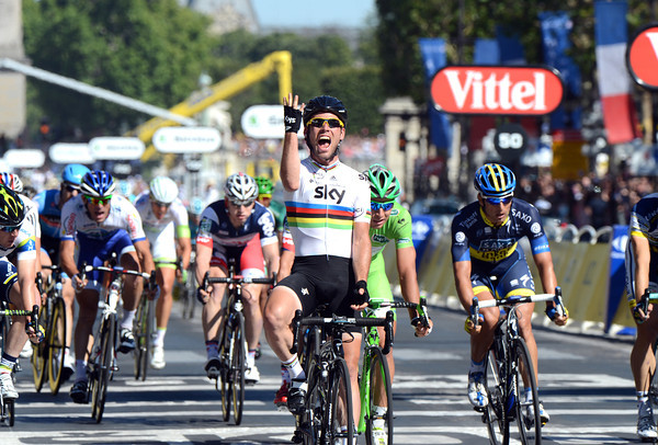 Mark Cavendish wins stage twenty to conclude a great day for Team Sky..!