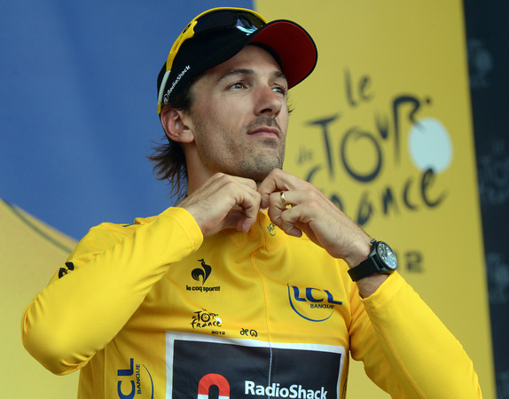 A serene-looking Fabian Cancellara is still race-leader - but the G.C will change drastically after tomorrow's uphill finish...