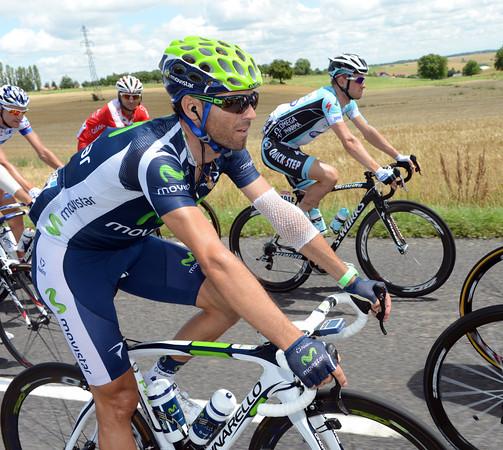 Alejandro Valverde fell twice yesterday...