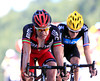 Evans finishes ahead of Wiggins - the pair are set for some great battles in the coming two weeks..!