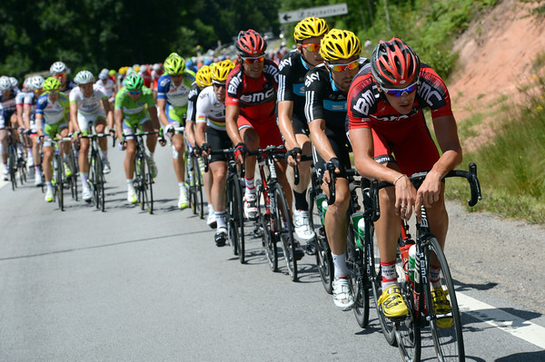 Marcus Burghardt is pacing the peloton in pursuit of the escape - the gap is down to about four-minutes...