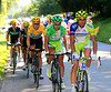Ivan Basso leads Peter Sagan and Wiggins on the final climb - Sagan then gets dropped but Nibali makes an attack...