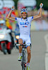 Thibout Pinot wins into Porrentruy after catching and passing Kessiakoff - it is France's first stage-win in the Tour..!