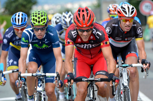 Philippe Gilbert and six others have joined Voigt's attack - but it all comes to nothing...
