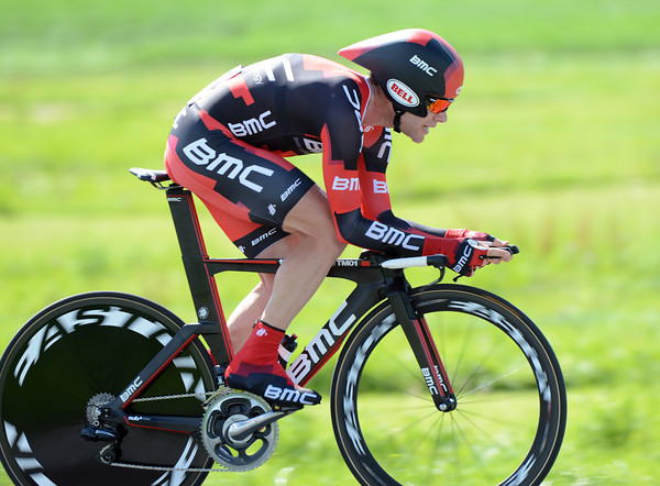 "Cadel Evans finished in 6th place, 1'43"" down on the winner - but he's in 2nd-place overall..."