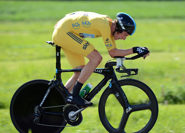 Bradley Wiggins took the Tour by storm in winning the TT at almost 47-kilometres-per-hour - he leads overall by almost two-minutes..!