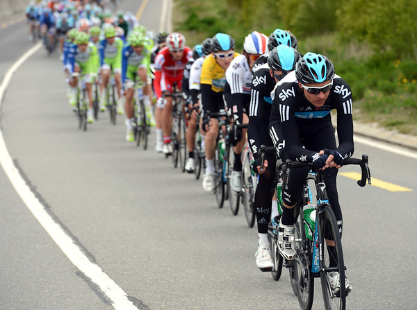Danny Pate is the man working hard for Team Sky to get the gap down to below four minutes...