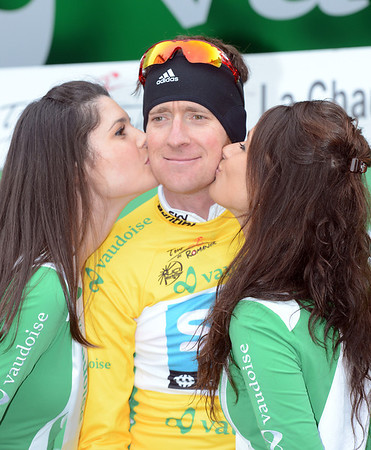 Bradley Wiggins has become the new race-leader too...