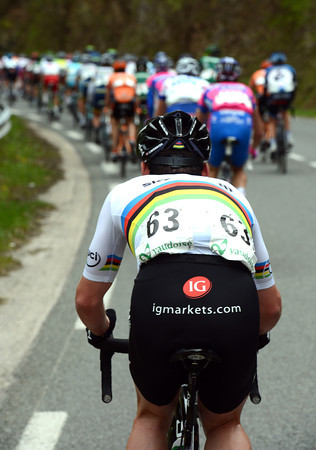 The pace is furious for the first hour - and Mark Cavendish is not the first to be dropped..!