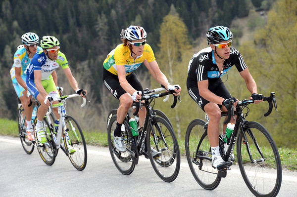 Porte might be earning a Tour de France place by pacing Wiggins up the long ascent...