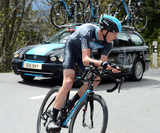 Chris Froome set an early fastest-time, but ended in 39th place, 1'44' down...