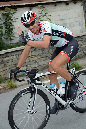 Fabian Cancellara's smile says it all - he's glad to be back to racing again..!