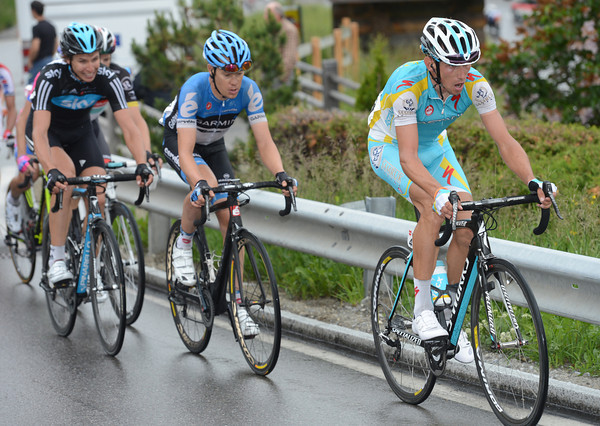 Roman Kreuziger tries to chase - he still has his Giro form in his legs..!