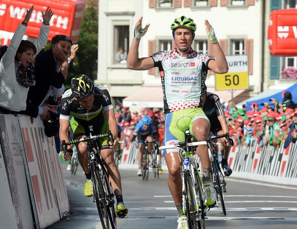 Peter Sagan wins stage three ahead of Baden Cooke and Ben Swift..!