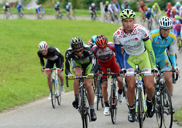 It's a scary sight when sprinter Peter Sagan emerges ahead of a group of favourites on a very steep climb..!