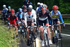 Rast leads the escape on to a series of climbs in the last 40-kilometres...