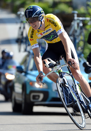 Race-leader Rui Costa rode well to take 8th place, 41-seconds down...