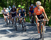 Mikel Nieve attacks about six-kilometres from the top...