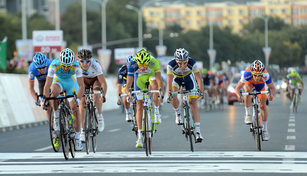Francesco Gavazzi takes second-place in a group just ahead of another group, who are just ahead of another group, who are...