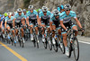 Omega Pharma-Quick Step are chasing steadily on the same climb...