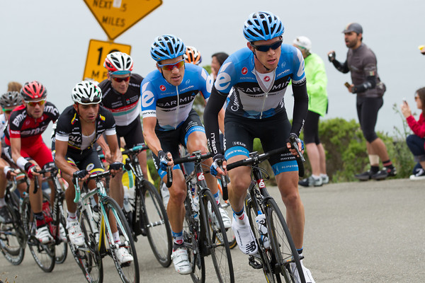 It is Garmin who now push the pace for their leader Danielson.