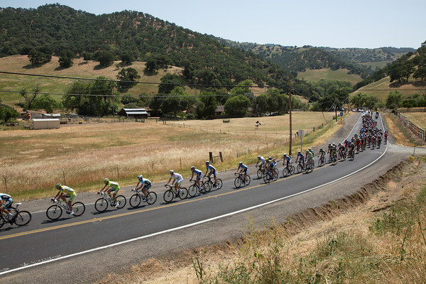 The rolling hills offer little hope for the break staying away.