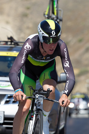 Cameron Meyer rode to 11th place, 1:26 off the winning time.