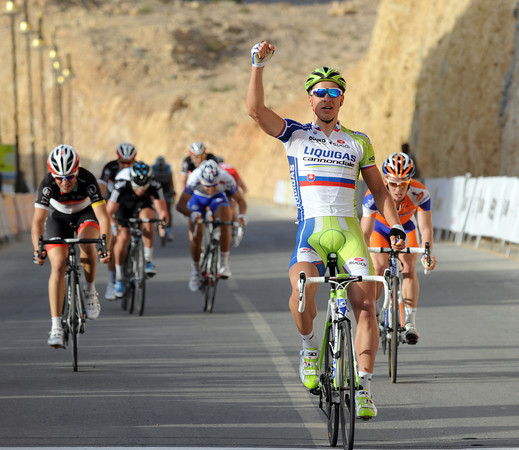 Peter Sagan has won stage two after a late-attack on the final ascent...!