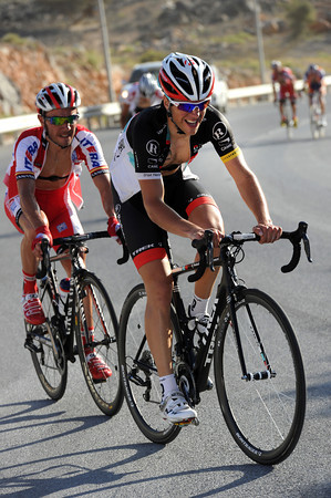 Tony Gallopin is about to pull away from Joachin Rodriguez...