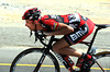 Ballan uses a team car or two and his legendary 'tuck' to get him back at high-speed...