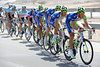 Liquigas has gone ballistic at the front - there's a bonus sprint in 40-kilometres and Nibali has plans on winning it...