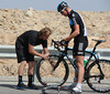 Ian Stannard has suffered another flat tyre - just as the chasing has begun..!