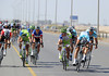 Tom Boonen wins the intermediate sprint ahead of Sagan and another Omega man - Nibali takes 4th and gains no bonuses...