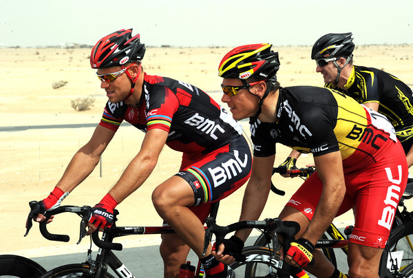 Whether friends or rivals, Thor Hushovd and Gilbert are at least good teamates on BMC...