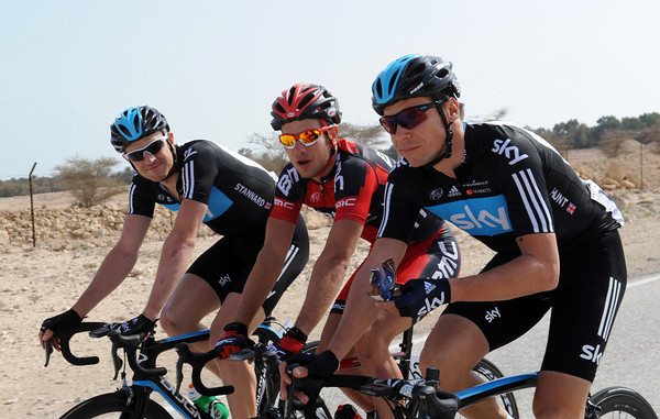 Team Sky's Ian Stannard and Jeremy Hunt chat with Adam Blythe - an all-British crew..!