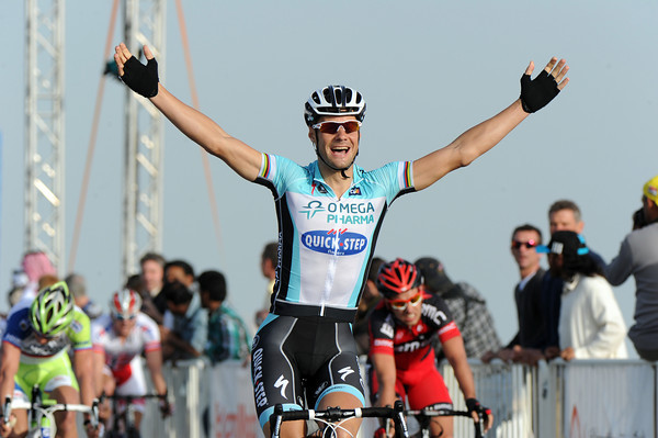Tom Boonen wins stage one from Adam Blythe and Peter Sagan..!