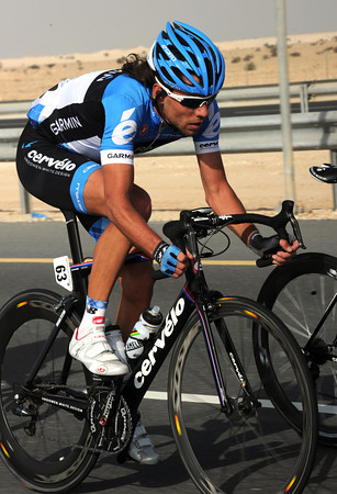Thomas Dekker is even less familiar in the colours of Garmin-Barracuda...
