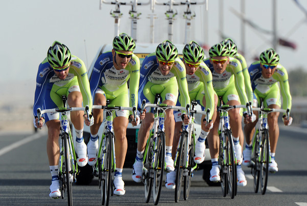 Liquigas took 5th, just 13-seconds down...