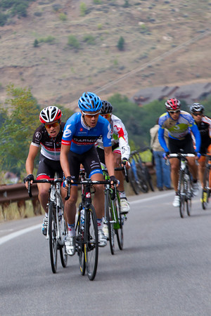 Tom Danielson has unleashed a vicious attack within the first kilometer as they climb the hill to Ft. Lewis College...
