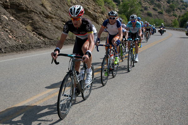 To no ones surprise, it is Jens Voigt at the pointed end of the escape.