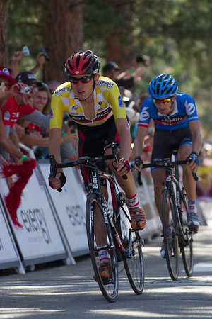 Tejay crosses 29 seconds adrift of Leipheimer - so he now sits in third, 21 seconds behind Levi.